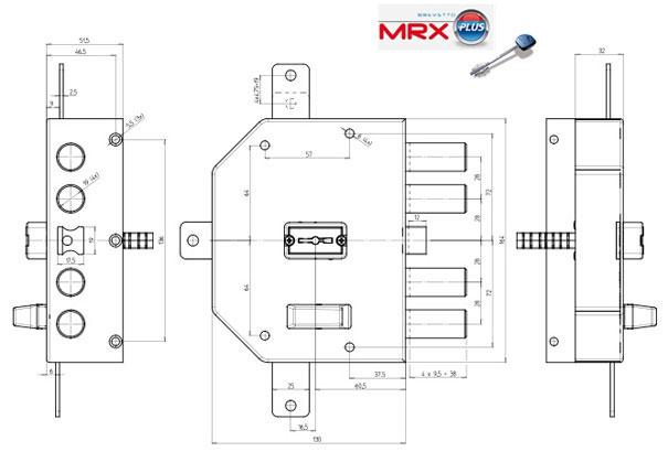 Fechadura de Alta Segurança anti gazua CR MRX PLUS ®