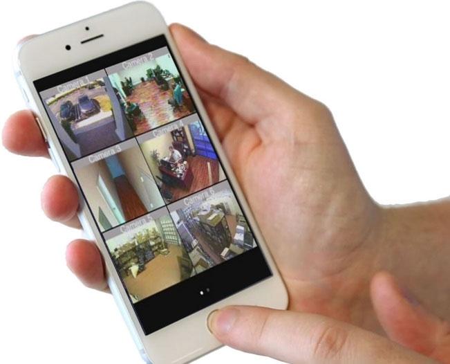 Visualização remota em tempo real através de Smartphone, Tablet ou PC