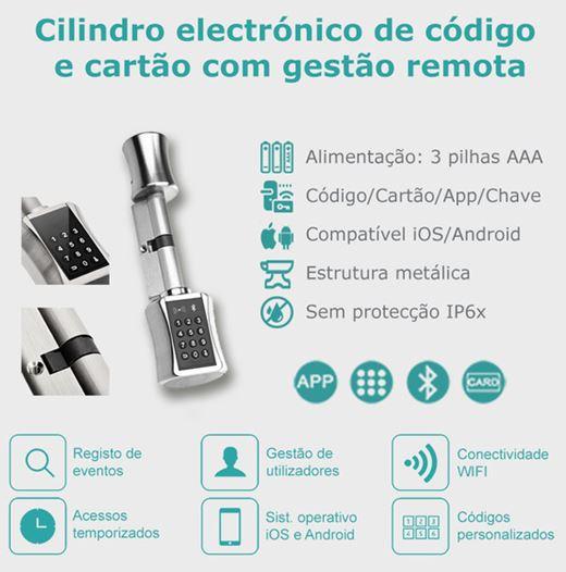 Cilindro Eletrónico código com gestão remota por App